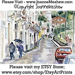 Isle of Capri Travel Art Print Joaane Meshew 250