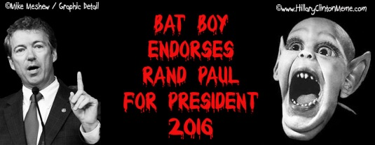 Rand Paul Bat Boy Meme Mike Meshew