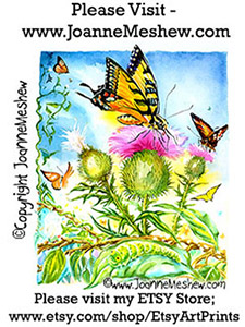 Butterfly Painting by Joanne Meshew