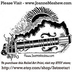 Kentucky Bluegrass Music Relief Art Print by Joanne Meshew