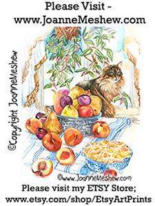 Summer Harvest Baking Season Painting by Joanne Meshew