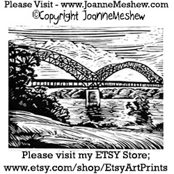 Bridge Relief Art Print by Joanne Meshew 250