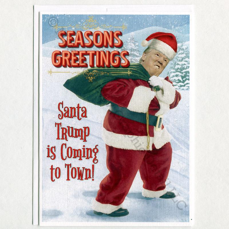 trump christmas santa trump is coming 650?w=535 donald trump hillary clinton meme,Trump Christmas Meme